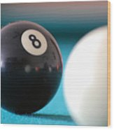 Eightball Wood Print