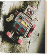 Eighties Cybernetic Droid  Wood Print