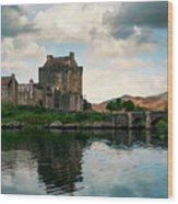 Eilean Donan Castle On A Cloudy Day Wood Print
