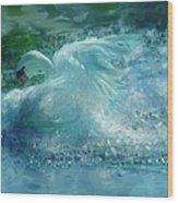 Ein Schwan - The Swan Wood Print