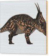 Einiosaurus Side Profile Wood Print
