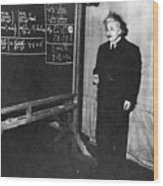 Einstein At Princeton University Wood Print