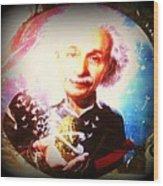 Einstein On Pot Wood Print
