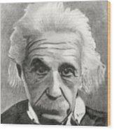 Einstein's Eyes Wood Print