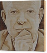 Eisenhower The Man - Poster Wood Print