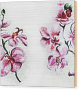 Either Orchid Wood Print