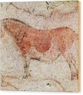 Ekain Cave Horse 2 Wood Print