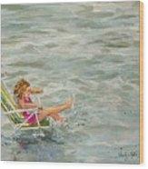El And Water Wood Print