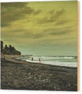El Beach - El Salvador Wood Print