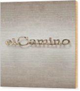 El Camino Emblem Wood Print