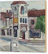 El Camino Real In San Carlos Wood Print