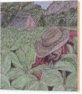 El Campo De Tabaco Wood Print