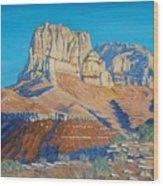 El Capitan At The Guadalupe Peaks Wood Print