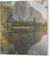 El Capitan In Reflection Wood Print