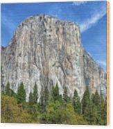 El Capitan In Yosemite National Park Wood Print