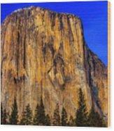El Capitan Mountain Wood Print