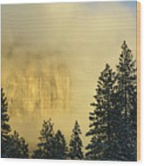 El Capitan Sunrise Glow Wood Print