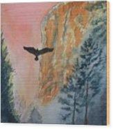 El Capitan  Sunset Wood Print
