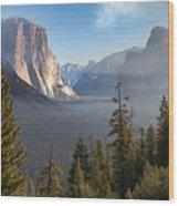 El Capitan Valley View Wood Print
