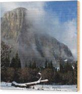 El Capitan Yosemite Clearing Storm Wood Print