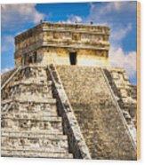 El Castillo - Pyramid At Chichen Itza Wood Print by Mark E Tisdale