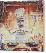 El Cocinero Wood Print