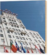 El Cortez With Flags Wood Print