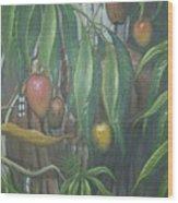 El Cucu De Mango Wood Print