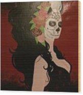 El Dia De Los Muertos  Wood Print