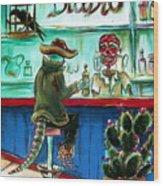 El Diablo Wood Print by Heather Calderon
