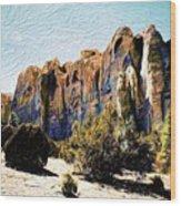 El Morro Cliffs Wood Print
