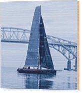 II Mostro And Blue Water Bridge Wood Print