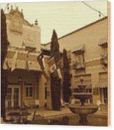 El Paisano Hotel In Marfa Texas Wood Print