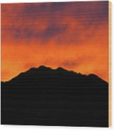 El Paso Fiery Sunset Panoramic Wood Print