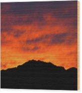 El Paso Fiery Sunset Wood Print