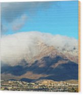 El Paso Franklin Mountains And Low Clouds Wood Print
