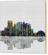 El Paso Mexico Skyline Wood Print