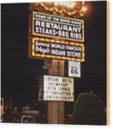 El Rancho Hotel, Nm Wood Print