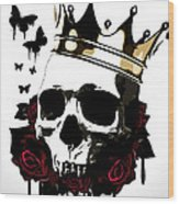 El Rey De La Muerte Wood Print