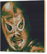 El Santo The Masked Wrestler 20130218 Wood Print by Wingsdomain Art and Photography