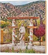 El Santuario De Chimayo Sculpture Garden 3 Wood Print