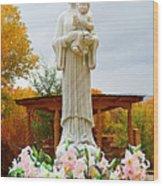 El Santuario De Chimayo Sculpture Garden 5 Wood Print