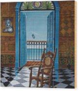 El Sillon De Abuelita Wood Print