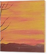 el Sol en Pleno Otono Wood Print