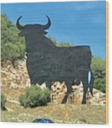 El Toro In The Andalucian Countryside Wood Print
