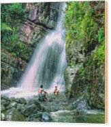 El Yunque Rain Forest Waterfall Wood Print