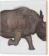 Elasmotherium Wood Print