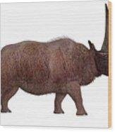 Elasmotherium Side Profile Wood Print