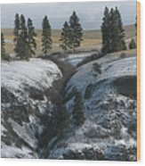 Elberton Cliffs In Winter Wood Print