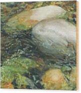 Elbow River Rocks 2 Wood Print